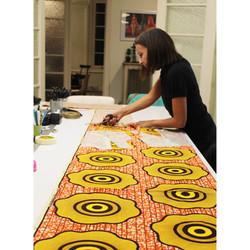 cut african fabric
