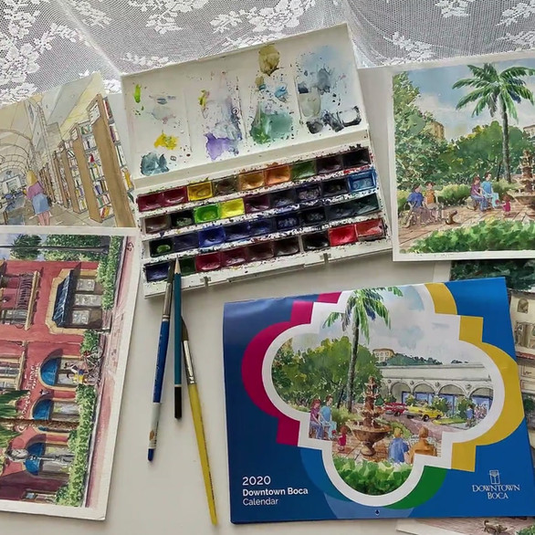 Downtown Boca Raton 2020 Calendar Project