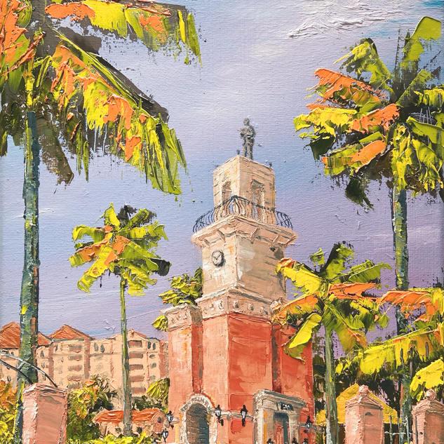 Mizner Pavilion Original Oil Painting -