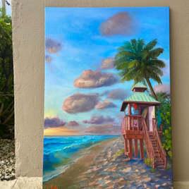 Red Reef Life Guard Tower 9 at Sunrise, Boca Raton, Florida