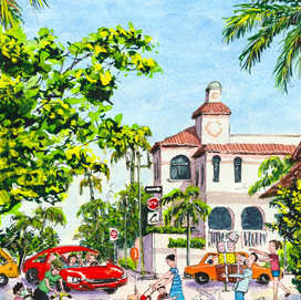 Downtown Boca Raton Streets Art Print