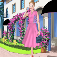 Digital Illustration for Boca Raton Realtor Karina Frangulyan