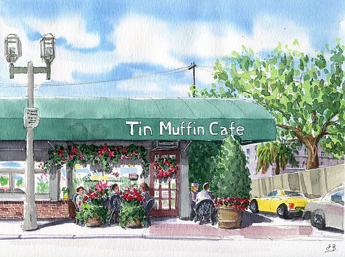 Tin Muffin Cafe, Boca Raton 8.5 x 11 in PRINT