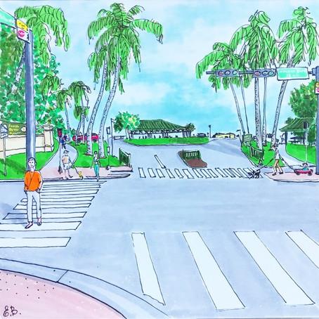 East Palmetto Park Road , Boca Raton Art  🚶♀️🚶♀️🚶♀️