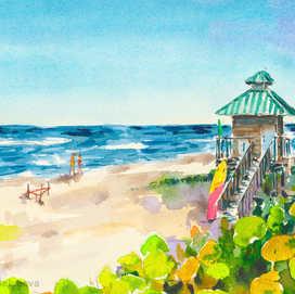 Boca Raton Lifeguard Tower 1 Art Print