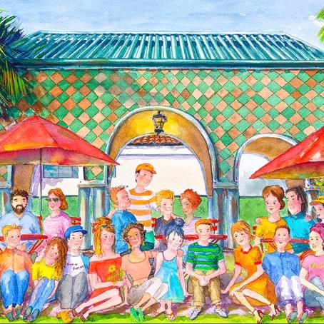 Happy People Watercolor Artwork