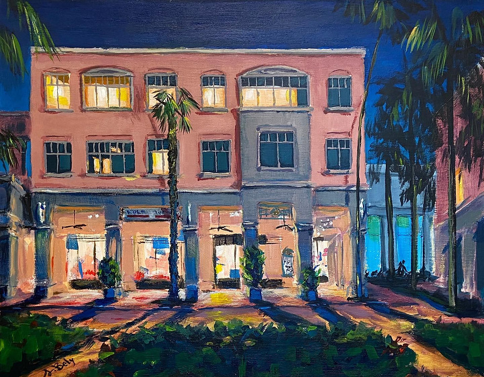Mizner Park at Night