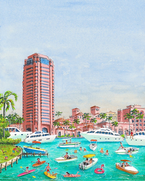 Lake Boca Raton Art PRINT