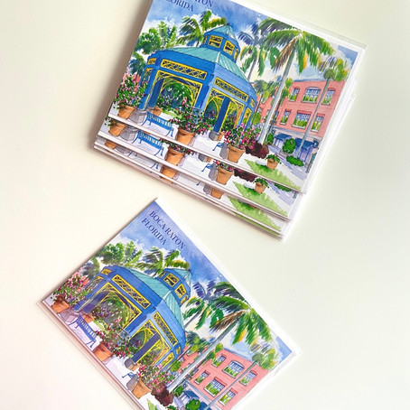 Boca Raton Printed Cards 5 x 7 / Envelope Included