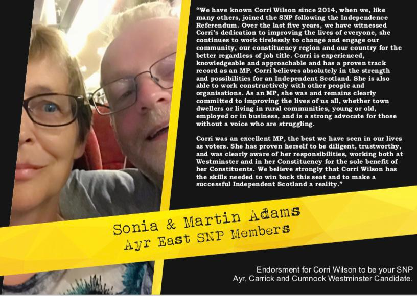Sonia & Martin Adams