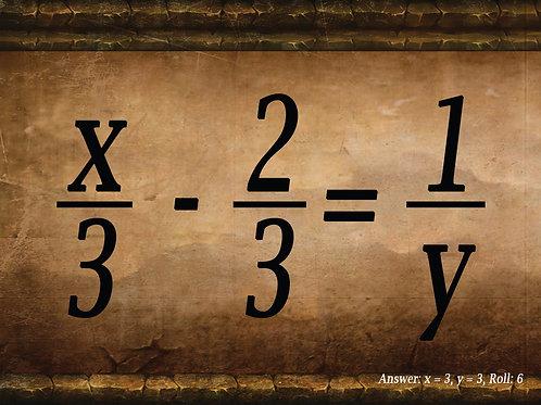 Fractions Math Dice