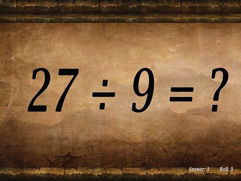 Division Math Dice