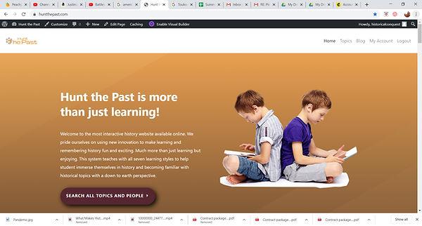 HuntThePast Landing Page.jpg
