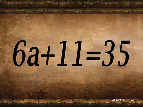 Algebra I Math Dice