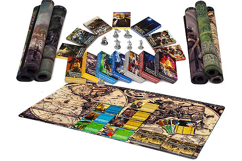EVERYTHING PACKAGE-6 Starters, 9 Expansions, 6 Mats, 6 Miniatures, HuntThePast