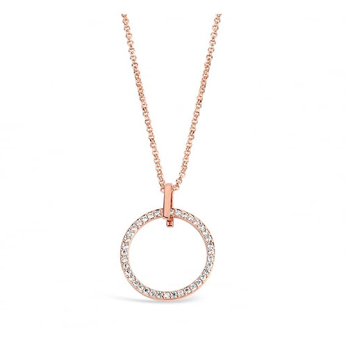 Rose Gold Plated Cubic Zirconia Necklace