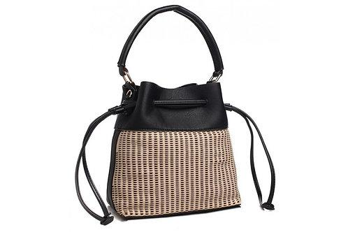 Black Double Pull Shoulder Bag