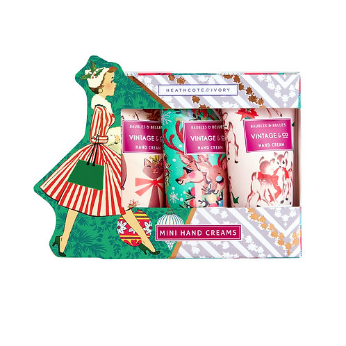 Vintage & Co. Baubles & Belles Mini Hand Creams Gift Set