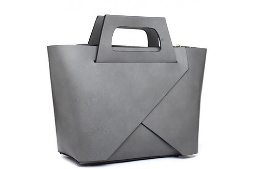 Grey Vogue Tote Bag