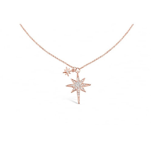 Lovely Star Long Crystal Set Necklace