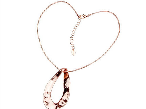 Chunky Water Drop Pendant Necklace