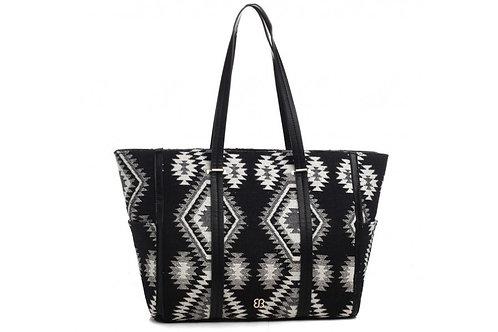 Black & White Tassel Tot Bag