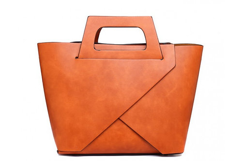 Tan Vogue Tote Bag