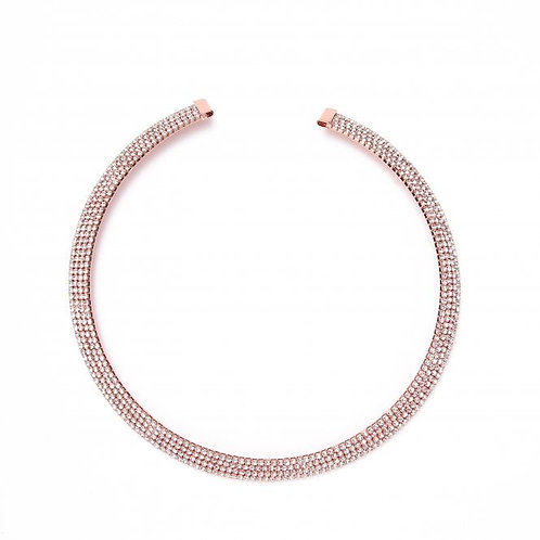 Beautiful Rose Gold Plated Collar Necklace