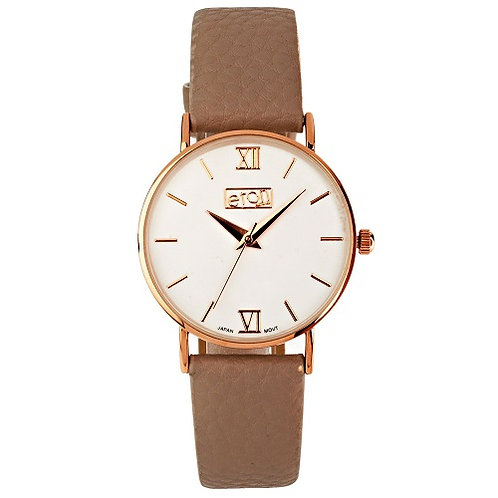 Rose Gold With Grey Strap Watch