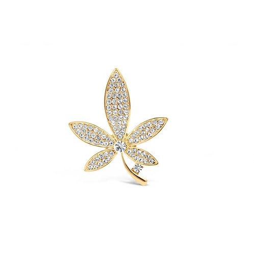 Gold Plated Flower Shaped Brooch