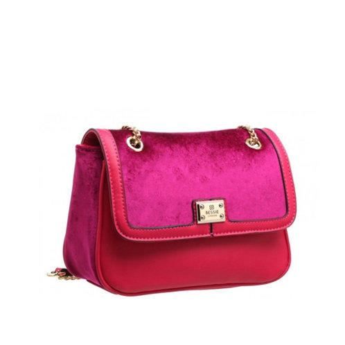 Lush Purple Velvet Cross Body Bag