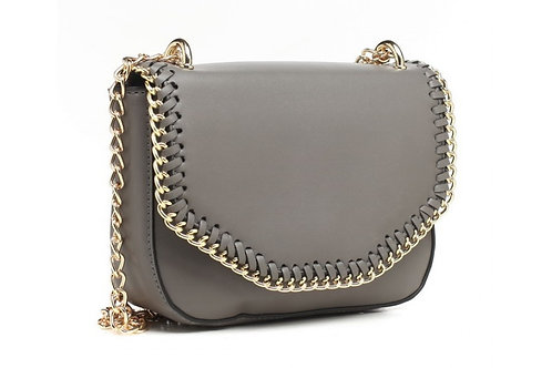 Grey Chain Link Grey Cross Body Bag