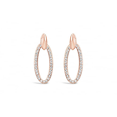 Rose Gold Earrings With Czech Crystal Stones