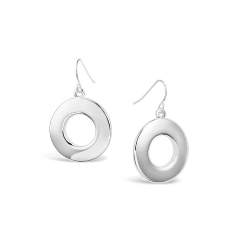 Fashionable Silver Hoop Earrings