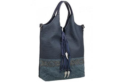 Blue Bohemian Tote Bag