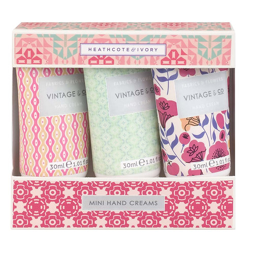 Vintage & Co.  Fabrics & Flowers Mini Hand Cream Gift Set