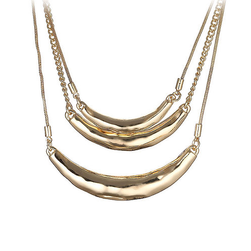 Tri Layers Gold Necklace