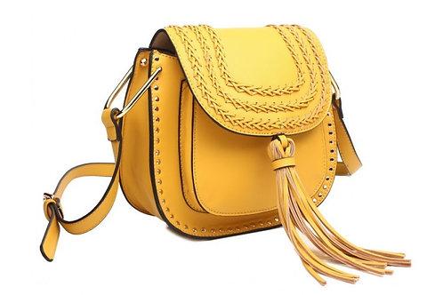 Yellow Cross Body Saddle Bag