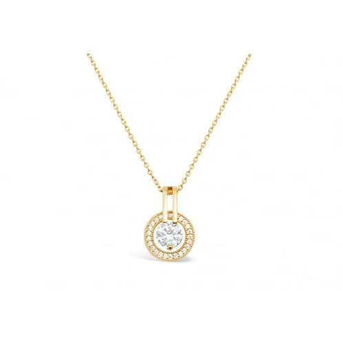 Gold Plated Crystal & Cubic Zirconia Necklace