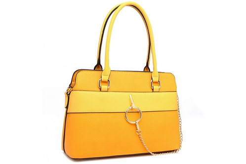 Yellow Hoop Chain Shoulder Bag
