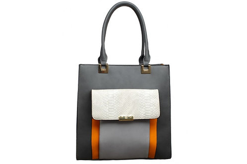 Grey Deco Shoulder Bag