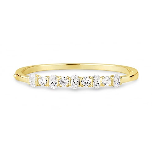 Stylish Gold Plated Cubic Zirconia Bracelet