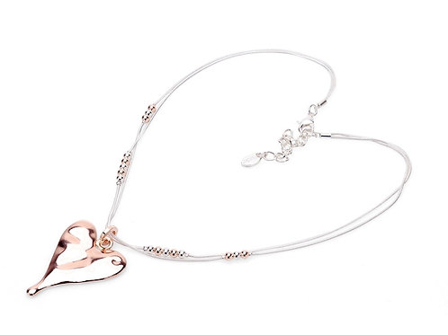 Elegant Silver & Rose Gold Colour Necklace