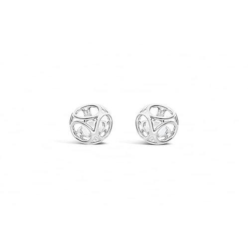 Silver Plated Crystal Drop Earrings