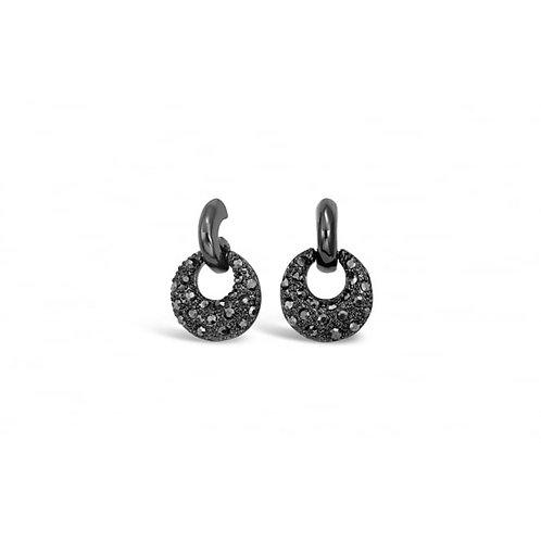 Small Gun Metal Stud Earrings