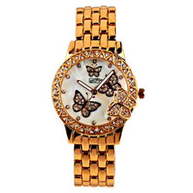 Gold Butterfly Watch