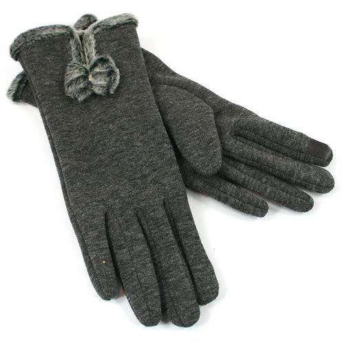 Bow Glove - Grey