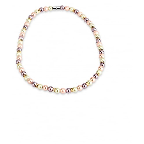 Pearl & Crystal Magnetic Necklace
