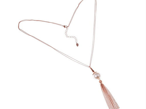 Pearl Tassel Pendant Necklace