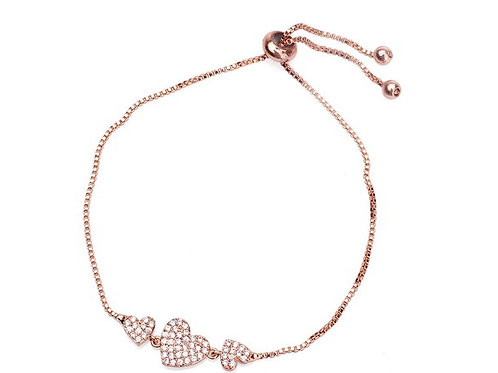 Rose Gold Bracelet With Cubic Zircon